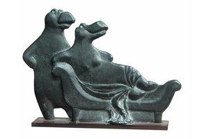 Chaise longue - brons - Miep Maarse