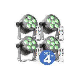 LED par mini set 4