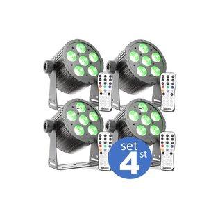 LED par mini set 4
