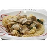 Fusilli met kip en champignonsaus