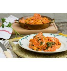 Tagliatelle met Scampi en verse Tomatensaus