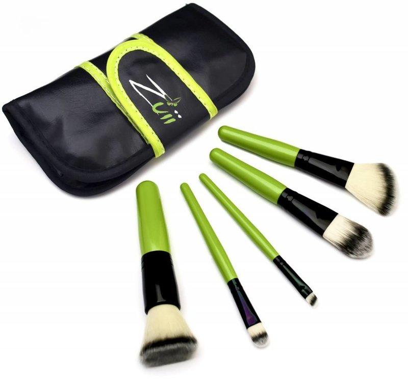 Zuii Organic Make-up-Pinsel-Set mit Etui