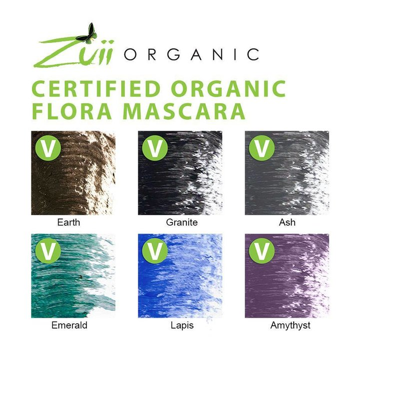 Zuii Organic Natürliche schwarze Wimperntusche Granite
