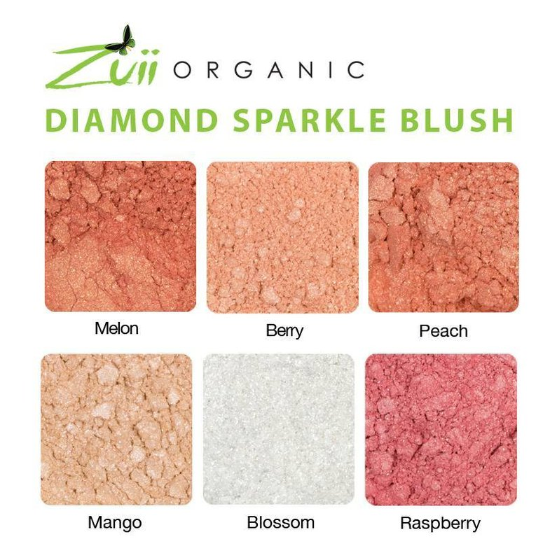 Zuii Organic Flora Diamond Sparkle Blush Mango