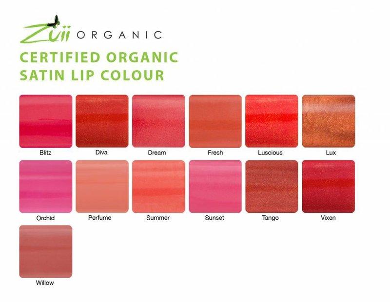 Zuii Organic Satin Lip Colour Willow