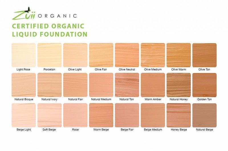 Zuii Organic Natürliche Flüssige Foundation Light Rose