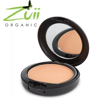 Zuii Organic Ultra gepresste Pulver Foundation Honeywood