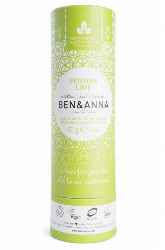 Ben & Anna Natural  Deodorant Eco Stick Persian Lime