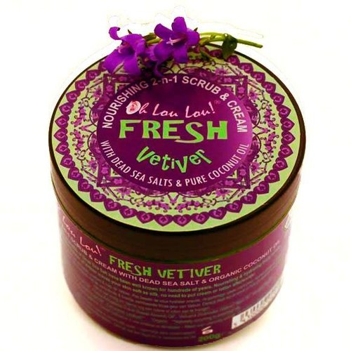 Oh Lou Lou! Dead Sea Salts Body Scrub Fresh Vetiver