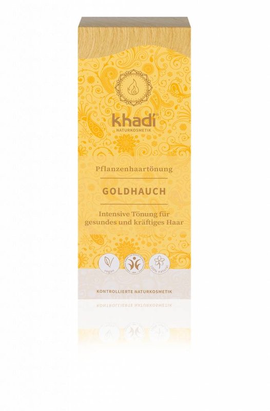 Khadi Washable Hair Dye Gold Glow