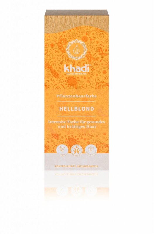 Khadi Natürlicher Henna Haarfarbe Hellblond