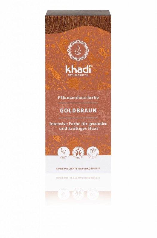 Khadi Natürliche Henna  Haarfarbe Goldbraun