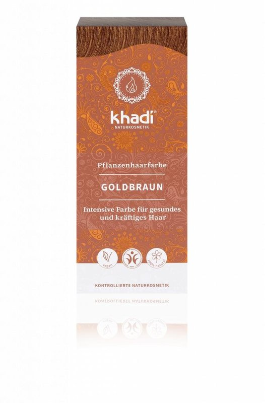 Khadi Natural Henna Hair Dye Golden Brown