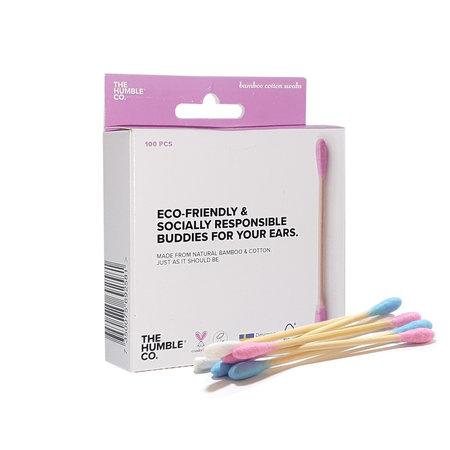 Humble Brush Bambus-Wattestäbchen rosa
