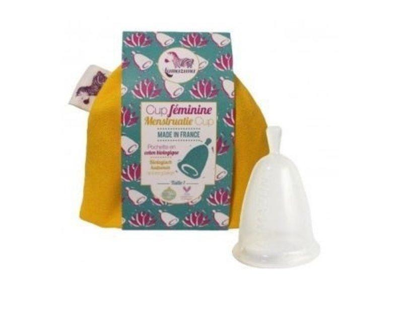 Lamazuna Menstruationstasse im Aufbewahrungsbeutel Größe 2