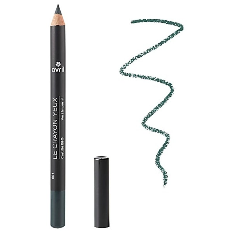 Avril Organic dark green eye pencil