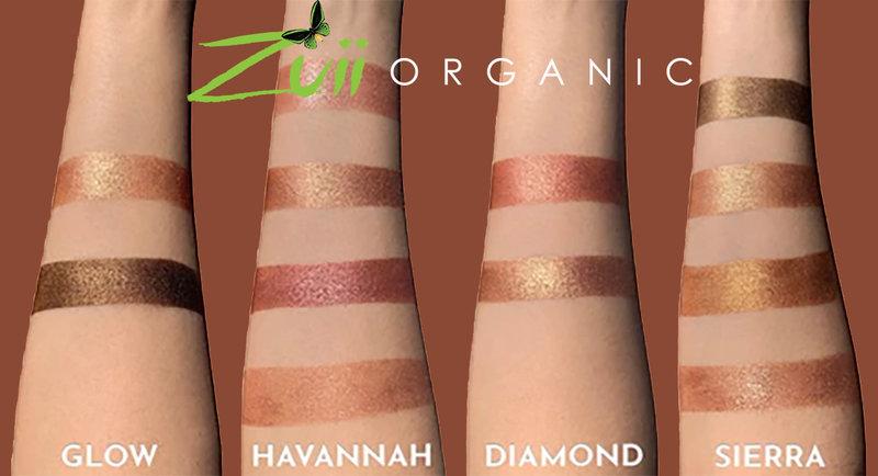 Zuii Organic Metallic Quad Lidschatten Palette Havannah
