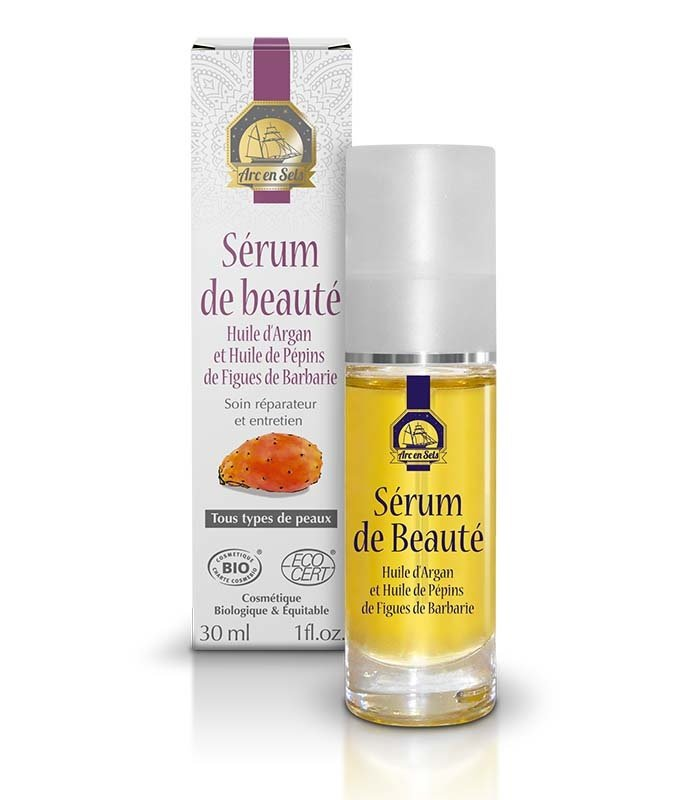 Arc en Sels Organic Beauty Serum with Argan & Cactus Fig Oil