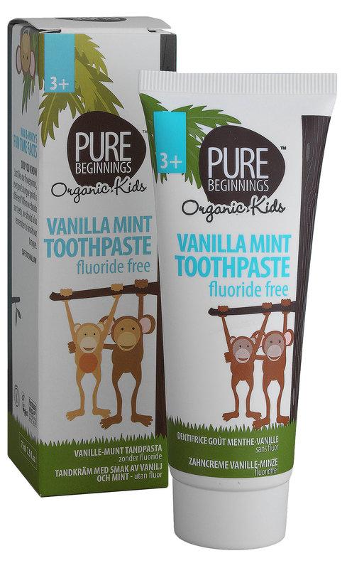 Pure Beginnings Kinderzahnpasta ohne Fluorid Vanilla Mint
