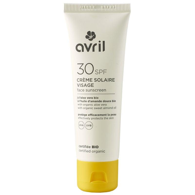Avril Organic Facial Sunscreen SPF30