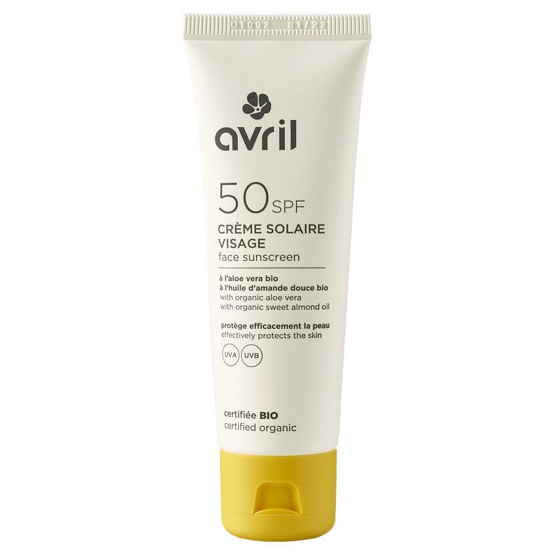 Avril Organic Facial Sunscreen SPF50