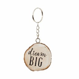 Clayre & Eef Key chain Dream Big Ø 4 cm