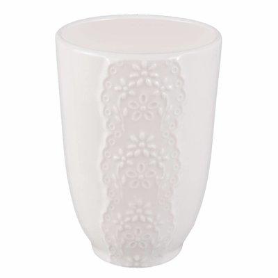Clayre & Eef Mug, Tooth brush holder Ø 7*10 cm