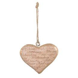 Clayre & Eef Hanger heart 9*2*7 cm