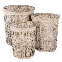 Clayre & Eef Basket (3) Ø 47*56 cm / Ø 38*49 cm / Ø 31*43 cm