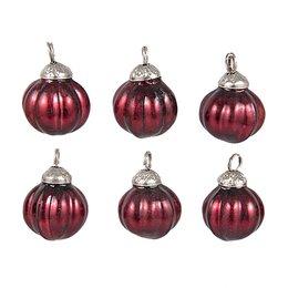 Clayre & Eef 6GL2243R Kerstballen in zakje (6)