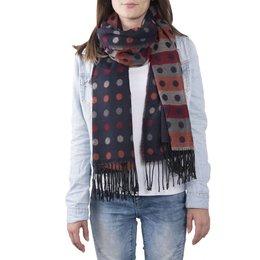 Clayre & Eef JZSC0366BL Sjaal dots