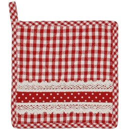 Clayre & Eef Potholder red