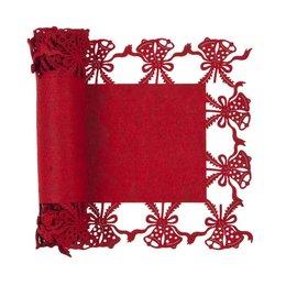 FE065.002R - Tafelloper - 30 x 120 cm - wol - rood