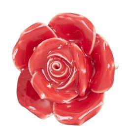 61862 - Deurknop - Doorsnede/hoogte:  4.5 cm - keramiek - rood