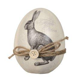 Clayre & Eef Decoration bunny Ø 12*14 cm