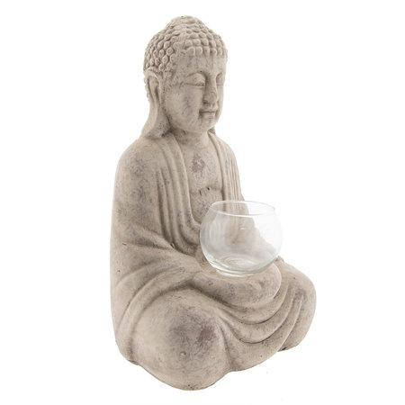 6TE0213 Waxinelichthouder Boeddha