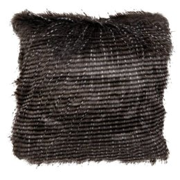 Clayre & Eef KT020.050 - Kussenhoes - 40 x 40 cm - 50polyester/acryl - zwart