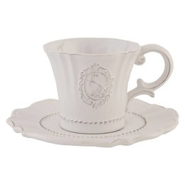 Clayre & Eef Cup and saucer Ø 15*7 cm