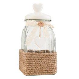 Clayre & Eef Storage jar 12*12*24 cm / 1,2L