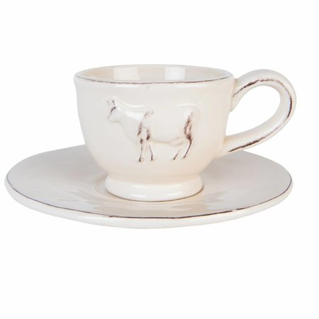 Clayre & Eef Cup and saucer  15*7 cm / 0.2L