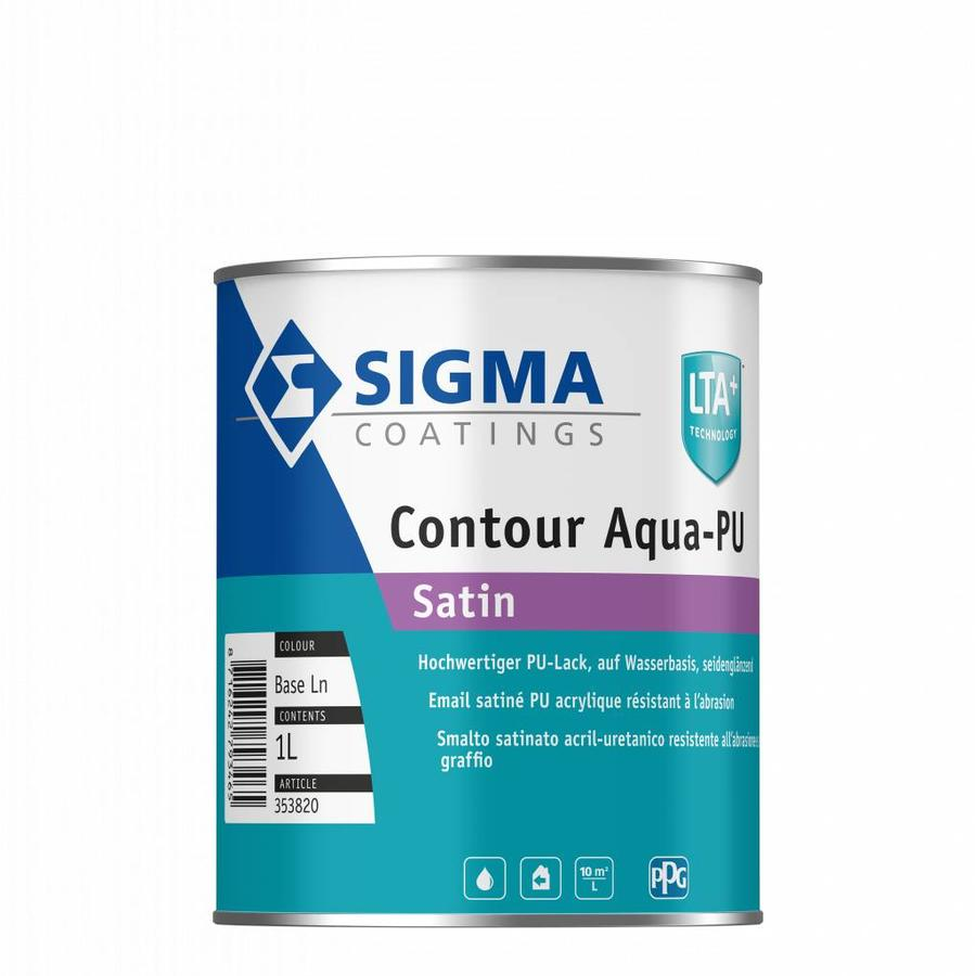 Sigma s2u nova satin en Sigma Contour Aqua PU satin