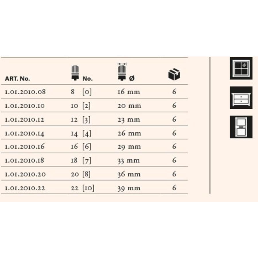 Staalmeester Patentpuntkwast 5-delige set 2010 Serie