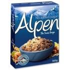 KORTERE THT: Alpen No Added Sugar Swiss Style Muesli 500 gram
