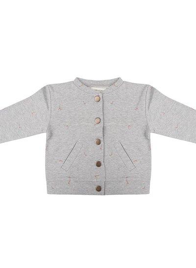Baseball Jacket Angle - Grey Melange
