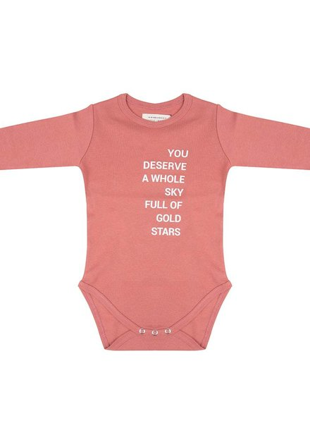 Onesie Gold Stars - Rose