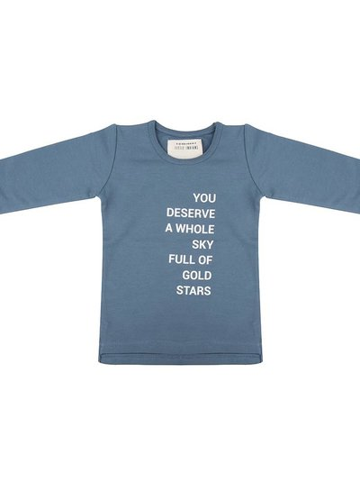 Longsleeve Gold Stars - Blue