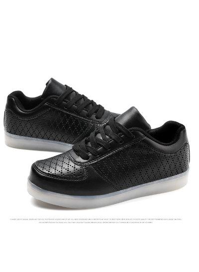 Trimodu !! NEU !! LED Schuhe black/ perforiert
