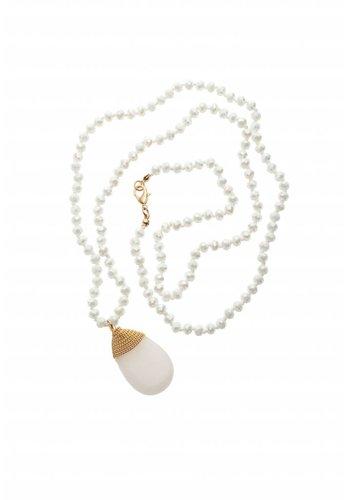 biba Experience Goldfarbige/Weiße Halskette