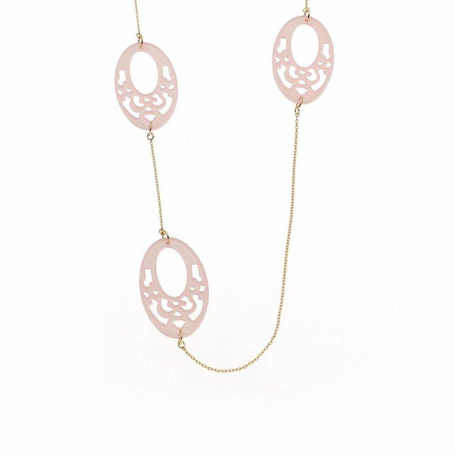 Rosé/Pinke Halskette-1