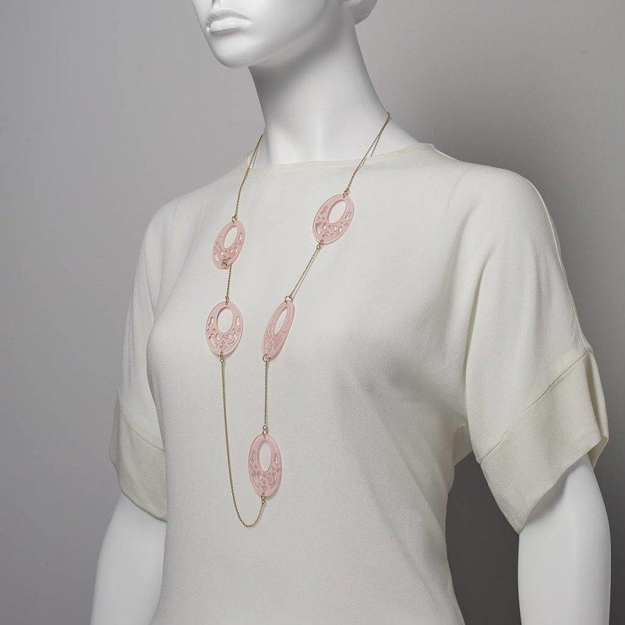 Rosé/Pinke Halskette-3